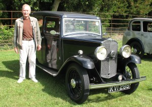 Standing alongside my restored Super Nine in 2011.