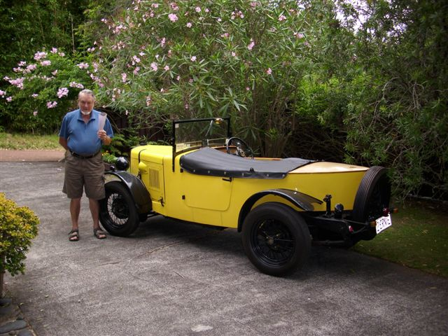 1st - Dick Green with his Super Nine Special at his home in New Zealand on February 2011.